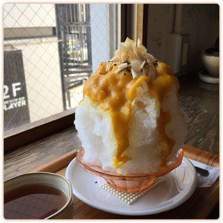 カボチャメープル氷 ハロウィン版(日本茶カフェ一日 (ひとひ))