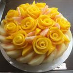 桃と薔薇マンゴーのタルト