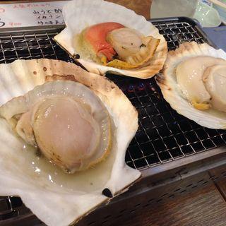 活大ホタテ貝の浜焼き 1個(大庄水産 前橋店 )