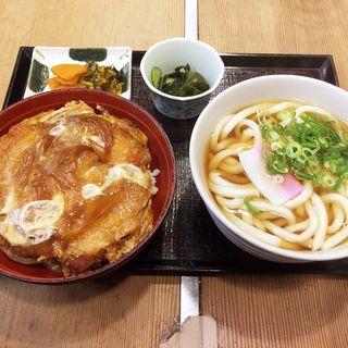 どんぶりセット(ロースカツ丼、かけうどん)(大徳屋 西新店 )