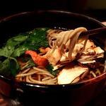 松茸の香り蕎麦