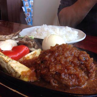 日替り和牛ハンバーグSET(サラダ、ライス付き)(レストラン二見ヶ浦 (Restaurant Futamigaura))