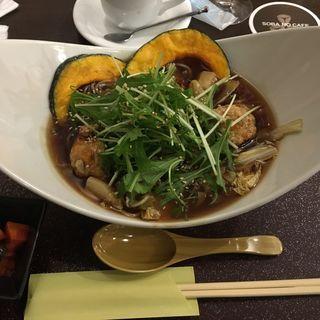 特製とりつみれと秋野菜のあったかあんかけそば(Soba no cafe )