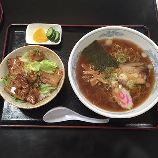 焼肉丼セット(めっちゃごめん)
