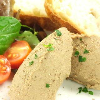 鶏白レバーのムース(バケット3枚付き)(Wine&Dining 蔵人 )
