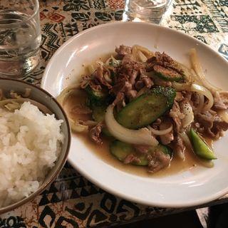 きゅうりと豚肉炒め(山之内 神宮前店 (ヤマノウチ))