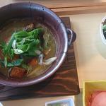 たっぷり野菜!!「豆腐つくねハンバーグ定食」(やさい家めい 上野店 )