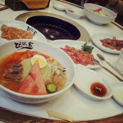 盛岡冷麺 冷麺祭りでワンコイン冷麺♡