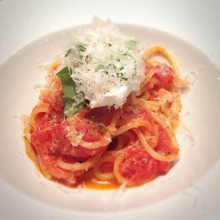 シンプルトマトのスパゲッティ リコッタチーズ添え(エヌ キッチンプラス (N_KITCHEN+))