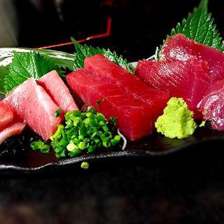 鮪刺し盛り(魚と酒 はなたれ 横浜鶴屋町店 )