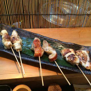 スズキのモッツァレラ   金目鯛塩焼き  サーモンモッツァレラ(串もん 西屋 (ニシヤ))