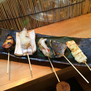 鰆の柚子胡椒焼  太刀魚の塩焼き  キスの塩焼き  イサキの柚子胡椒焼  ヒラメの塩焼き(串もん 西屋 (ニシヤ))
