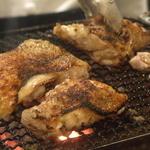 鶏肉の炭火焼き