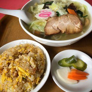 麺セット(タンメン+半チャーハン・漬物)(栄華 (エイカ))