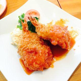 海老と卵のクリーミーコロッケセット(洋食 森卯亭 )