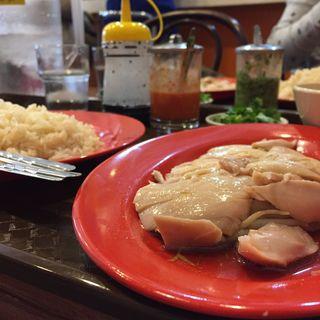 海南チキンライス ご飯200g 鶏120g パクチー追加(僕の鶏飯 )