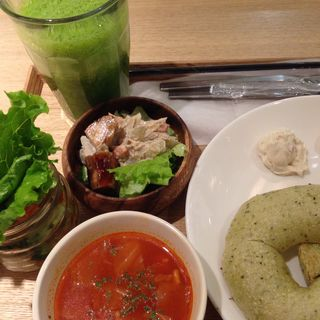 クリームチーズ定食(ベーグル&ベーグル 横浜ジョイナス店)