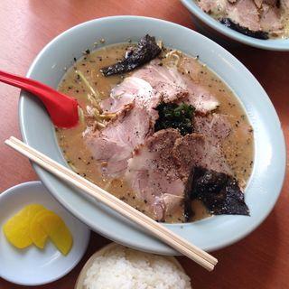 ねぎ味噌チャーシュー中麺固め(ラーメンセンター下松店)