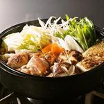 鶏すき焼き(隠れ家個室居酒屋 水面月 上野店)