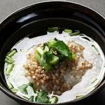 野沢菜と蕎麦の実のお茶漬け