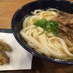 釜かけ + 牛肉 + ごぼう天