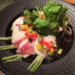 紅葉鯛とサラダ蕪のカルパッチョ
