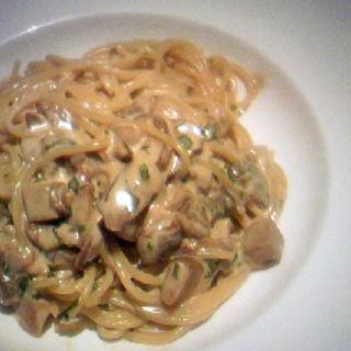 ポルチーニ茸のクリームソース(オルティージャ (ORTIGIA))
