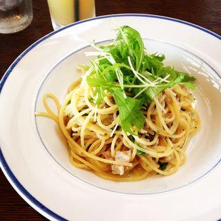 アジと水菜のパスタ(カフェ&レストラン2nd)