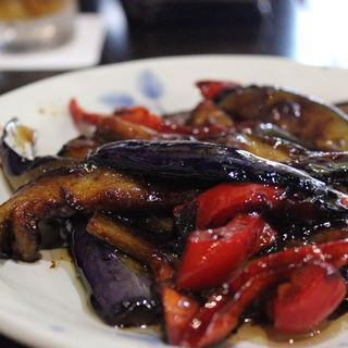 茄子とピーマン味噌炒め(こーちゃん )