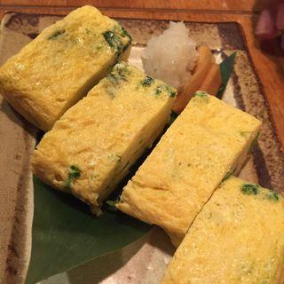 岩海苔と三つ葉の出し巻き卵(牡蠣と魚 海宝 高田馬場店 )