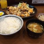 唐揚げ定食(チーズ)