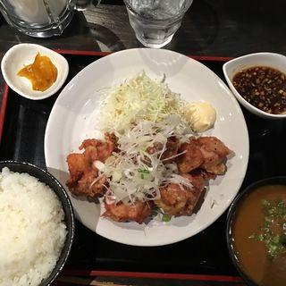 鶏の唐揚げネギソース定食(実之和 六本木店 (みのわ))