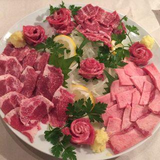 タン刺身3種盛り(肉ya! (ニクヤ))