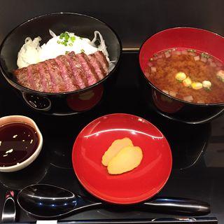能登牛ステーキ丼(いしかわ百万石物語 江戸本店)