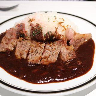 サーロインステーキ早矢仕ライス(M&C Cafe 丸の内オアゾ (エムシー・カフェ))