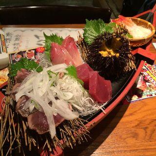 活〆大漁刺身盛り(ぼんてん漁港 一番町芭蕉の辻店 )
