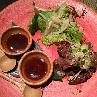 牛ハラミの網焼き(喰心-meat Dining- (クウシン))
