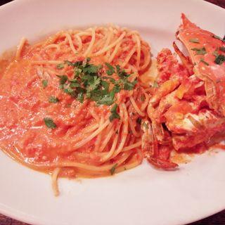 渡り蟹のトマトクリームソース スパゲティ(デリツィオーゾ イタリア (DELIZIOSO ITALIA))