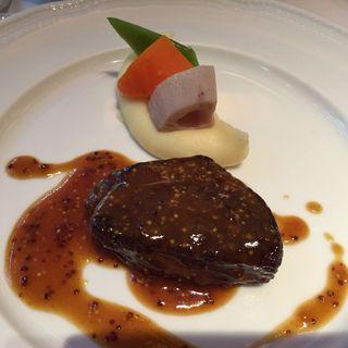 豪産 ランプ肉のステーキ マスタードソース(メゾン・バルサック (MAISON BARSAC))