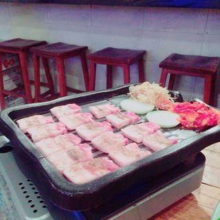 サムギョプサルセット(韓国料理 ウリジップ)
