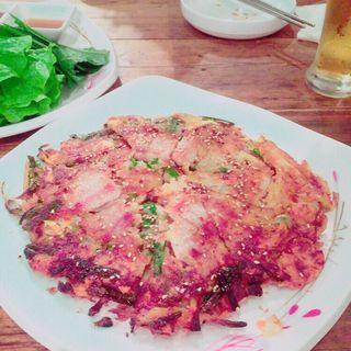キムチチーズチヂミ(韓国料理 ウリジップ)