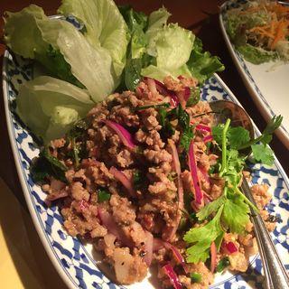 ラープムー(豚ミンチのハーブサラダ)(サワディーレモングラスグリル)