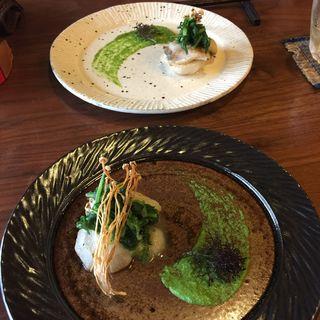 焼きカブと鱈(ささらい )