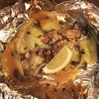 牡蠣ときのこのバターホイル焼き(個室ほろり あいう魚、牡蠣くけこ。 蒲田店 )