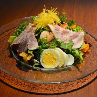 生ハムと卵 野菜(PLEASIS)