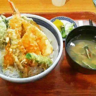 天丼とアサリ汁(麺大将 (めんたいしょう))