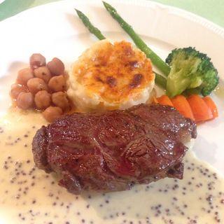 ハラミ肉のゴルゴンゾーラソース(ラ・パレット (LA PALETTE))