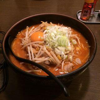 キムチ納豆ラーメン(柳家 フェザン店 )