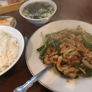 青椒肉絲のランチ(上海飯店 )