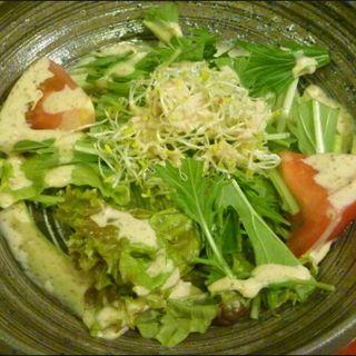 豚バラの厚切りみそ麹焼き定食のサラダ(ごはん )